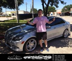 https://flic.kr/p/KMD62Y | Happy Anniversary to Christopher on your #Mercedes-Benz #C-Class from Bryan Roth at Autos of Dallas! | deliverymaxx.com/DealerReviews.aspx?DealerCode=L575