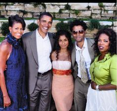 President Barak Obama With 1st Lady Michelle Obama & Oprah Winfrey..... Eric Benet & His Wife...