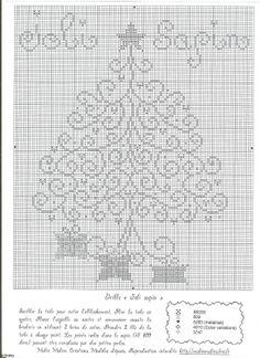 Arvore de Natal Christmas tree free cross stitch