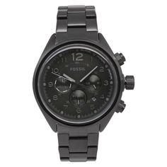 Shop for Fossil Men's 'Flight' Black Stainless Steel Watch. Get free delivery On EVERYTHING* Overstock - Your Online Watches Store! Fossil Watches For Men, Cool Watches, Rolex Watches, Black Watches, Wrist Watches, Black Stainless Steel, Stainless Steel Watch, Best Watch Brands, Online Watch Store