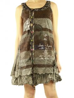 With lace dress 96025 grey Savage Culture