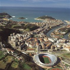 Estadio Anoeta Bilbao, Basque Country, France, Summer Travel, Aerial View, Paris Skyline, City Photo, Madrid, Around The Worlds