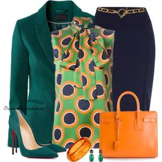LucLuc Green Blazer by oribeauty-cosmeticos on Polyvore featuring beleza, Dorothy Perkins, David Yurman, Yves Saint Laurent, Dsquared2, River Island and Christian Louboutin