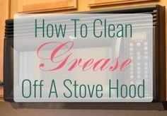 How to clean grease off a stove hood or over stove microwave. Quick and easy!