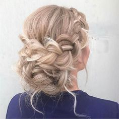 @ashpettyhair @beyondtheponytail plaited and pinned perfection! For brides or your maids let your lovely ladies locks take centre stage