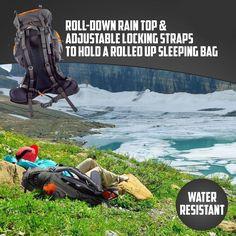 Roll-Down Rain Top & Adjustable Locking Straps to Hold a Rolled up Sleeping Bag- http://ift.tt/29nXjTH #waterproof #camping #hikers #sleepingbag #waterresistant #lightweight #outdoorgear #alpine #survivalgearv #waterproofhiking