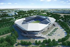 Soccer Stadium, Football Stadiums, Stadium Architecture, Modern Architecture, Marvel Bedroom, World Cup 2022, Building Skin, Casas Containers, Sports Complex