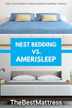 Nest Bedding Reviews vs. Amerisleep | Which mattress is the best? Best Mattress, Mattress Brands, Bed Reviews, Nest, Bed Pillows, Pillow Cases, Bedding, Sleep, Furniture
