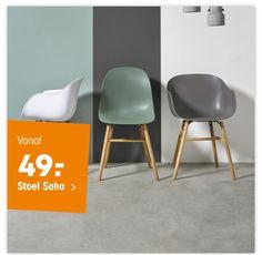 Leuke stoelen van kwantum passen mooi een een grijs met groen interieur