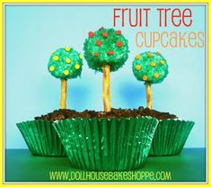 Earth Day @Spring Fruit Tree Cupcakes