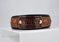 Sexy Beast Dog Collars - The Zeus Collar, $110.00 (http://sexybeastdogcollars.com/collar-and-name-plate-packages/the-zeus-collar)