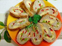 Plnená bravčová roláda Caprese Salad, Shrimp, Tacos, Meat, Chicken, Ethnic Recipes, Food, Google, Party