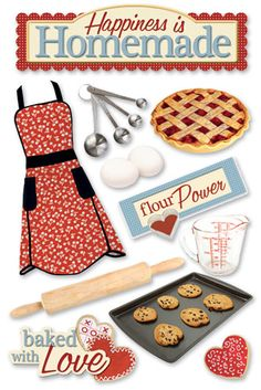 Paper House Productions - Baking Collection - 3 Dimensional Cardstock Stickers - Homemade at Scrapbook.com $3.99
