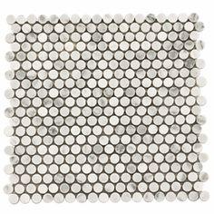 Carrara White Penny tile $20 - Interesting backsplash