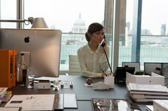 Rose Byrne hard at work in I Give It A Year.