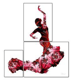 Imprimir bailaora de flamenco del arte flamenco por FluidDiamondArt