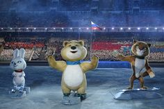 The 2014 Winter Games in Sochi reprised the bear theme with a polar bear paired with two friends, a hare and a leopard.