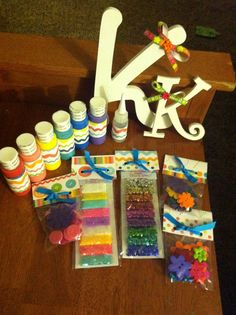 DIY+Gift+Basket+for+Girls | birthday gift for a 10 year old girl! DIY letters and fun ...