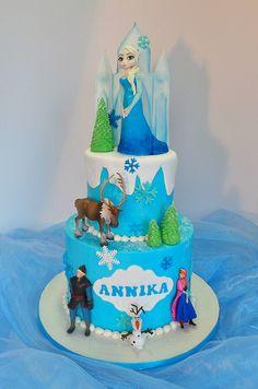 Frozen themed birthday cake.