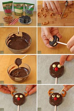 15 Christmas decorations you can make with your own hands - Christmas Treats For Gifts, Christmas Deserts, Christmas Cupcakes, Homemade Christmas Gifts, Christmas Candy, Holiday Treats, Christmas Decorations, Xmas Food, Christmas Cooking