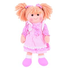 Bigjigs Toys 13 Inch Anna Doll - Soft Body Plush Toy Doll with Hair and Outfit Teddy Toys, Teddy Bear, Doll Toys, Dolls, Anna, Imaginative Play, New Toys, Wooden Toys, Little Ones