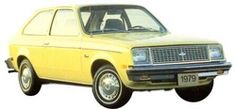 Ahh yes the Chevy Chevette.  These cars were everywhere. Good on Gas and if you got stuck in the snow you could just pick it up and move it!