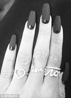 rihanna + black nails. New squared talon length style. Yes? No?