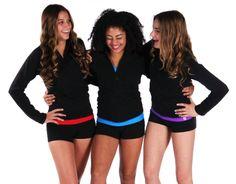 Gymnastics | Warm up Jackets | Foldover Yoga Shorts |k-Bee Leotards http://www.k-beeleotards.com/warm-ups http://www.k-beeleotards.com/yoga/shorts