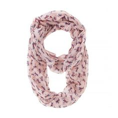 Dragonfly Pink Infinity Scarf