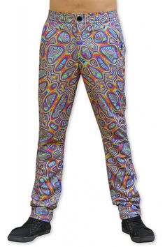 Chillout Pants : Prismatic Unisex chillout pants. Chill in style ! Super comfy pants for those chill times. Can be worn at home or out and about. Made from a soft fleece fabric with a semi-elasticated waist for a great fit. Button and zip front closing. 2 Side pockets & 2 back pockets. Sublimation print on poly fleece fabric. Artwork by Sam Farrand Fabric Artwork, Comfy Pants, Long Shorts, Fleece Fabric, Chill, Pockets, Unisex, Times, Zip