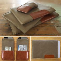 Leather & Canvas iPhone, iPad, Mac cases