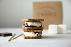 Smores Kit with house-made graham crackers and marshmallows via Etsy