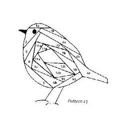 Plump little bird iris folding pattern Iris Folding Templates, Iris Paper Folding, Iris Folding Pattern, Paper Piecing Patterns, Quilt Patterns, Pliage D'iris, Inchies, Bird Quilt, Patch Aplique
