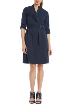 Spiga Shirt Dress from RAOUL. The classic look of the shirt dress with some added unique touches to keep it interesting and refreshing. Perfect for any occasion. $390
