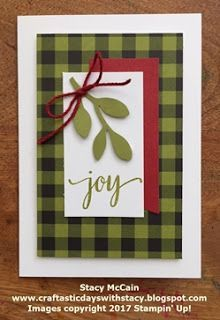 Craftastic Days with Stacy: Paper Pumpkin Samples - November 2017 - Back in Plaid