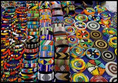 South African beaded bracelets and coasters