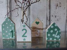 Weihnachtsdeko - *4 Holzhäuser im Set*** - ein Designerstück von pabst96 bei DaWanda