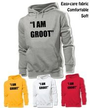 Simple Style Marvel Guardians Of The Galaxy I AM GROOT Graphic Hoodie Men's Boy's Lady's Girl's Sweatshirt White Red Yellow Grey //Price: $US $20.40 & FREE Shipping //     #hoodie