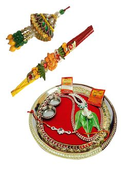 #Combo #Collection Of #Rakhi With #Pooja Thali.