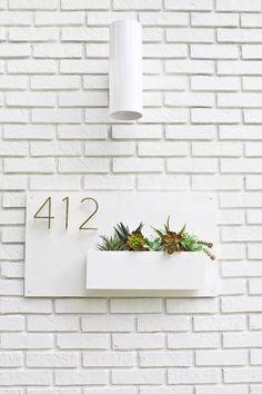 Modern House Number Planter   A Beautiful Mess   Bloglovin'