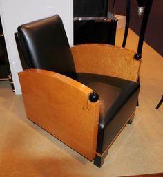 Art Deco Walnut Club Chair Biedermeier Sofa Seat 1920s Furniture in Antiques, Periods/Styles, Art Deco | eBay
