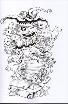 Doodle Invasion Coloring BookDoodle ColoringAdult