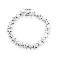 Bling Jewelry 925 Sterling Silver Celestial Stars CZ Bracelet 7.5 Inch Bling Jewelry. $99.99. 7.5in length; Weight is 13.7 grams; Rhodium plated .925 Sterling silver; Star bracelet; Cubic zirconia