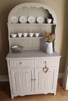 Dresser painted with Autentico Chalk paint Dolphin and Paragon vintage bone china