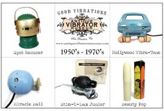 Postcards from our Antique Vibrator Museum at Good Vibrations on Polk! It's a hysterical, historical must-see! #goodvibrations #vintagevibrators #antiquevibrators #femalesexuality