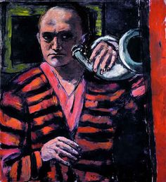 Beckmann, Max (1884-1950) - 1938-40 Self Portrait with Horn by RasMarley, via Flickr