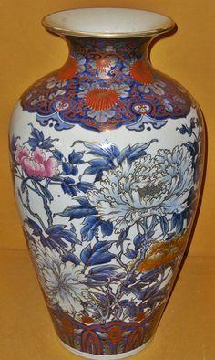 Antique Japanese Meiji Period Large Imari Vase.
