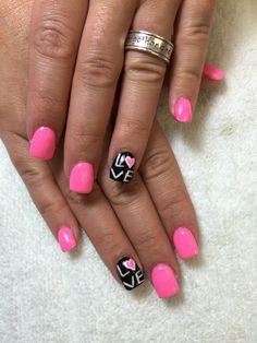 Valentine nails art
