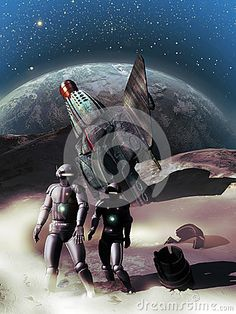 Two androids lost on a planet after their spacecraft crashes there.