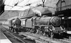 Sheffield Victoria Station, with train by Ben Brooksbank